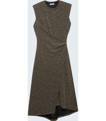 motivi vestito in maglia lurex donna nero