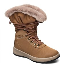 slopeside village™ omni-heat™ hi shoes boots ankle boots ankle boot - flat brun columbia