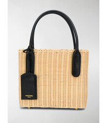 thom browne wicker basket bag