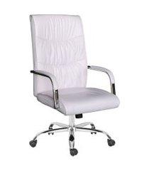 cadeira de escritório diretor giratória hooz branca
