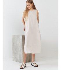 vestido blanco desiderata peach