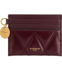 givenchy quilted card holder - red
