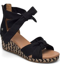 w yarrow sandalette med klack espadrilles svart ugg