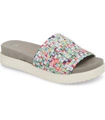 bernie mev. capri slide sandal, size 11us in gumballs fabric at nordstrom