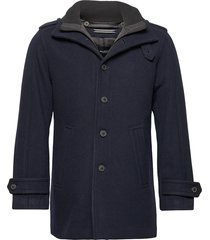 slhnoah wool coat b noos wollen jas lange jas blauw selected homme