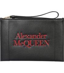 alexander mcqueen signature clutch