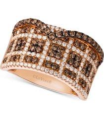 le vian chocolatier diamond statement ring (1-1/4 ct. t.w.) in 14k rose gold
