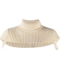 maison margiela roll-neck wool scarf