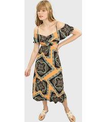 vestido lez a lez largo melbourne multicolor - calce regular