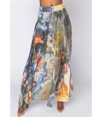 akira romance forever pleated maxi skirt