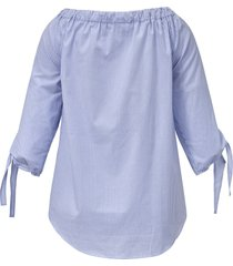 gestreepte blouse van emilia lay blauw