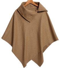 women cape coat batwing sleeve cloak wool winter oversized loose outwear
