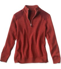 clays quarter-zip sweater / clays quarter zip sweater, brick red, xx large