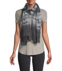 saachi women's pelagic tie-dyed square scarf - grey