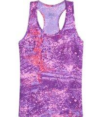 camiseta atletica lila color morado, talla xl
