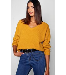 tall oversized v front sweater, mustard