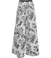 antonio marras pants flare elastic w/flowers