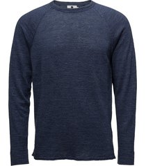 casper 6201 gebreide trui met ronde kraag blauw nn07
