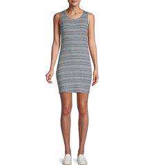 malin striped mini dress