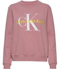 vegetable dye monogr sweat-shirt trui roze calvin klein jeans