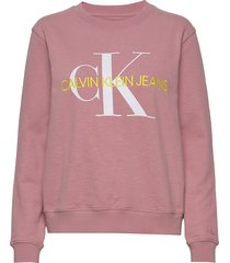 vegetable dye monogr sweat-shirt trui roze calvin klein jeans
