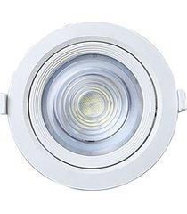 spot led de embutir redondo alltop 10w autovolt 6500k luz branca