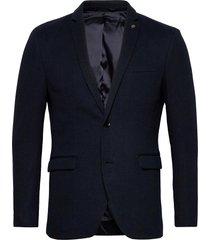 blazers knitted blazer colbert blauw esprit casual