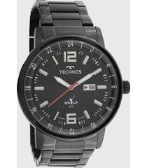 relógio technos 2115mwc/1p preto