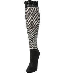 natori women's voile boot socks - black