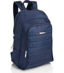 mochila com compartimento térmico viccina azul