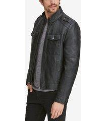 marc new york men's four-pocket faux-leather jacket