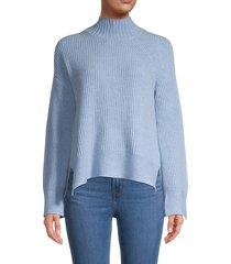 brodie cashmere women's sara cashmere turtleneck sweater - ash - size l