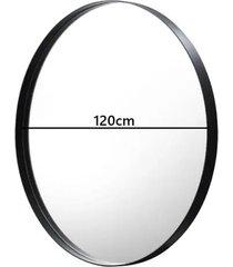 lustro okrągłe ruota czarna metalowa rama 120 cm