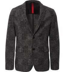 hugo arwido check blazer - charcoal 5100281612