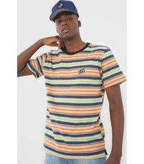 camiseta ...lost sunset stripe cali laranja/verde - laranja - masculino - dafiti
