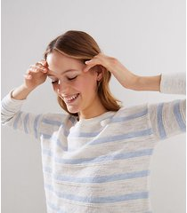 loft striped drop shoulder sweater