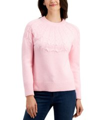 charter club cable-knit sweater, created for macy's