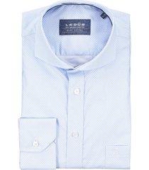 ledub shirt cutaway kraag lichtblauw motief