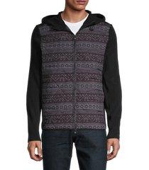 greyson men's senesqua-print hooded jacket - shepherd - size xl