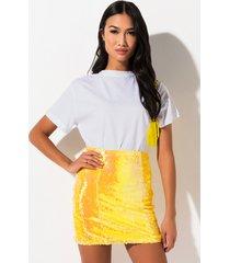 akira morning light high waisted mini skirt