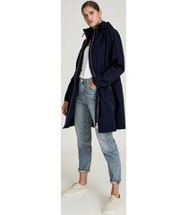 reiss mila - lightweight parka jacket in navy, womens, size 12