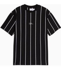 mens signature black stripe printed t-shirt