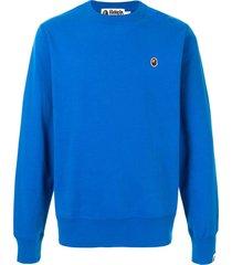 a bathing ape® ape patch sweatshirt - blue