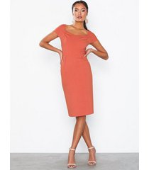 nly eve square neck cap sleeve dress fodralklänningar