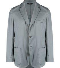 brioni unstructured single-breasted blazer - grey