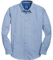 joe joseph abboud repreve® blue mini plaid sport shirt