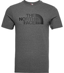 m s/s easy tee t-shirts short-sleeved grå the north face