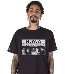 camiseta masculina n.w.a. preta