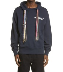 men's ambush multi cord hoodie, size x-large - blue