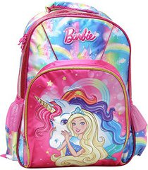 mochila escolar infantil luxcel barbie com acessório